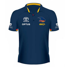 Adelaide Crows 2020 Womens Performance Polo Navy 8, Navy, rebel_hi-res