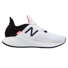 New Balance Fresh Foam Roav Womens Running Shoes White / Black US 6, White / Black, rebel_hi-res