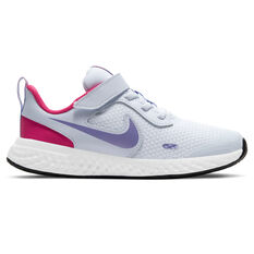 Nike Revolution 5 Kids Running Shoes Grey/Purple US 11, Grey/Purple, rebel_hi-res