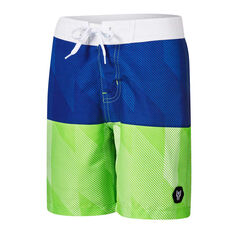 Tahwalhi Boys Slip Stream Board Shorts Blue 8, Blue, rebel_hi-res