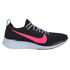 Nike Zoom Fly Flyknit Womens Running Shoes Black / Pink US 6, Black / Pink, rebel_hi-res