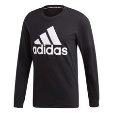 1306b8f8b8f adidas Mens Must Haves Badge of Sport Long Sleeve Tee Black   White S