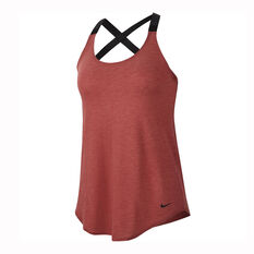 Nike Womens Dri-FIT Elastika Training Tank Red XS, Red, rebel_hi-res