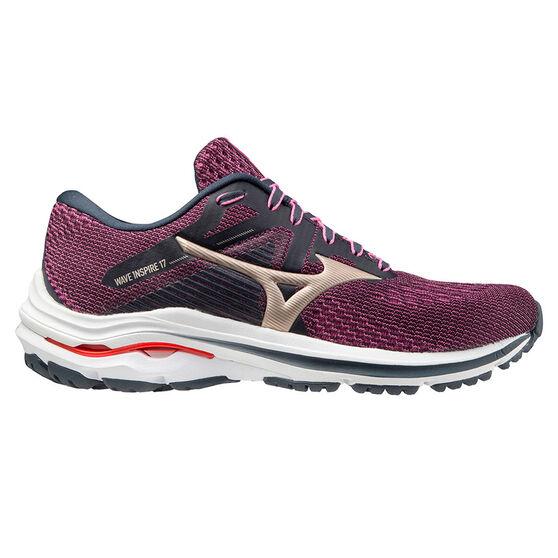 Mizuno Wave Inspire 17 Womens Running Shoes, Purple, rebel_hi-res