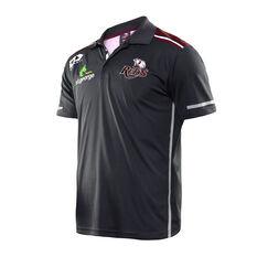 Queensland Reds 2020 Mens Media Polo Black / Red S, Black / Red, rebel_hi-res