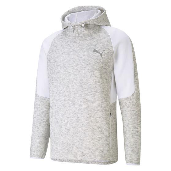 Puma Mens EvoStripe Half Zip Hoodie, White, rebel_hi-res
