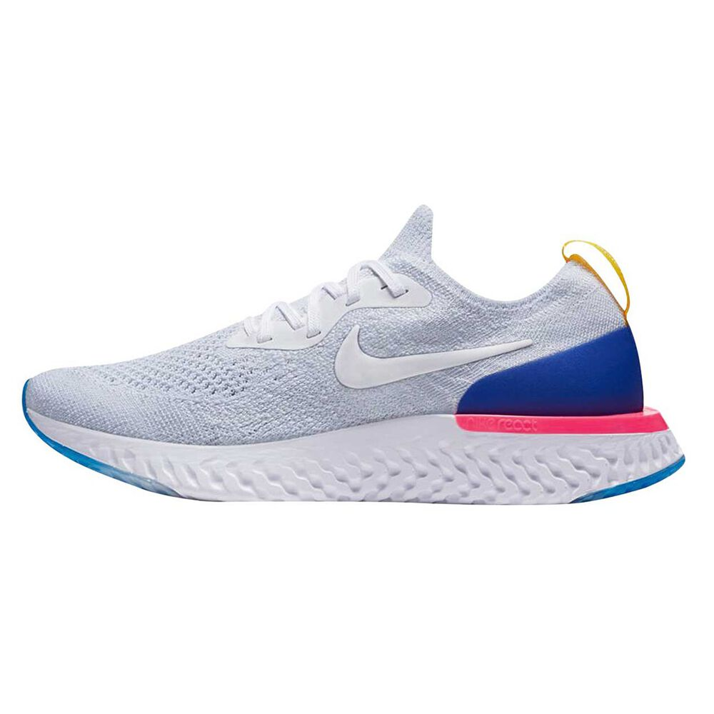 9157f5b4f002 Nike Epic React Flyknit Kids Running Shoes White US 7
