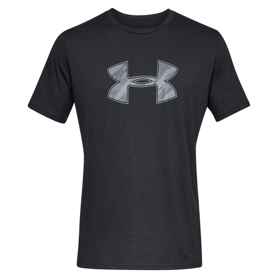 Under Armour Mens Big Logo Sportswear Tee Black / Grey S, Black / Grey, rebel_hi-res