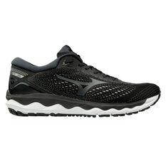 Mizuno Wave Sky 3 Mens Running Shoes Black / White US 14, Black / White, rebel_hi-res