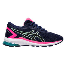 Asics GT 1000 9 Kids Running Shoes US 1 Navy / Pink, , rebel_hi-res