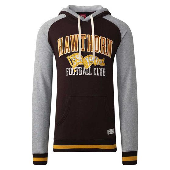Hawthorn Hawks Mens Collegiate Pullover Hoodie, Yellow, rebel_hi-res