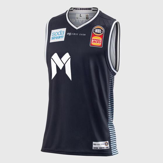Melbourne United 2018 / 19 Mens Home Jersey Navy M, Navy, rebel_hi-res