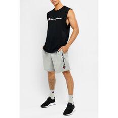Champion Mens Script Jersey Shorts Grey S, Grey, rebel_hi-res