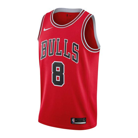 best sneakers 22d22 a5dea Nike Chicago Bulls Zach LaVine 2019 Mens Swingman Jersey University Red L