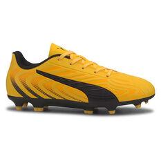 Puma One 20.4 Kids Football Shoes Yellow / Black US 11, Yellow / Black, rebel_hi-res
