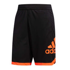 adidas Mens Badge Of Sport Basketball Shorts Black S, Black, rebel_hi-res