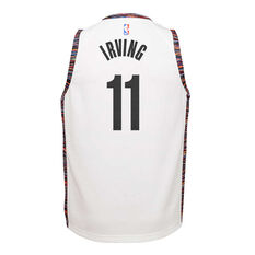 Nike Brooklyn Nets Kyrie Irving 2020 Youth City Edition Jersey White S, White, rebel_hi-res