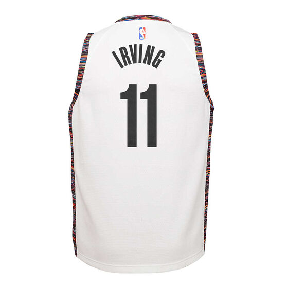 Nike Brooklyn Nets Kyrie Irving 2019/20 Youth City Edition Jersey, White, rebel_hi-res