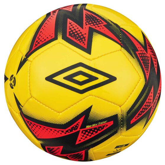 Umbro Neo Trainer Mini Soccer Ball Yellow / Pink 1, , rebel_hi-res
