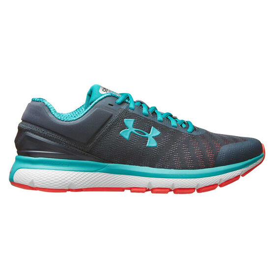 Under Armour Charged Europa 2 Mens Running Shoes, Blue / Grey, rebel_hi-res