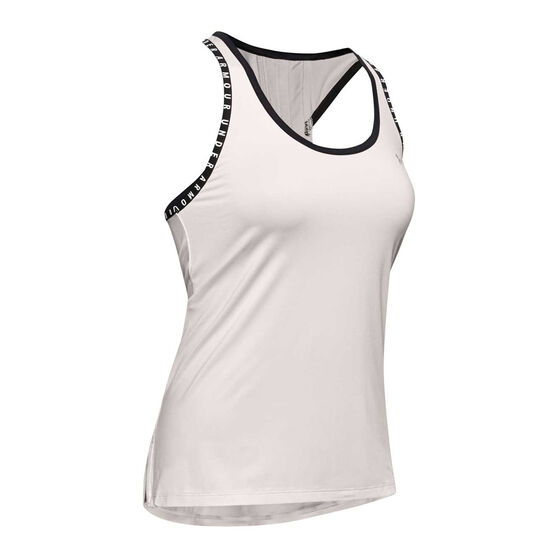 Under Armour Womens Knockout Tank, Grey, rebel_hi-res