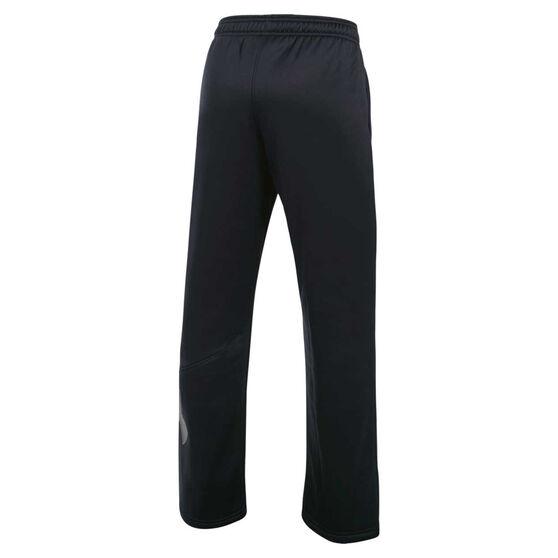Under Armour Boys Armour Fleece Big Logo Pants, Black, rebel_hi-res
