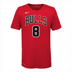 Nike Chicago Bulls Zach LaVine 2019/20 Kids Icon Edition Tee Red S, Red, rebel_hi-res