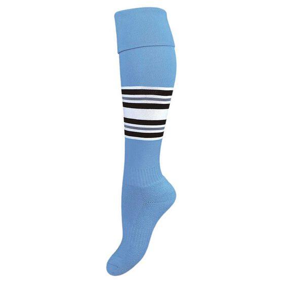 Burley Old Cronulla Kids Football Socks, , rebel_hi-res