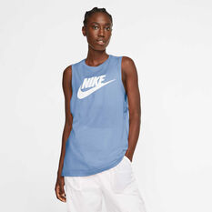 Nike Womens Sportswear Muscle Tank, Blue, rebel_hi-res