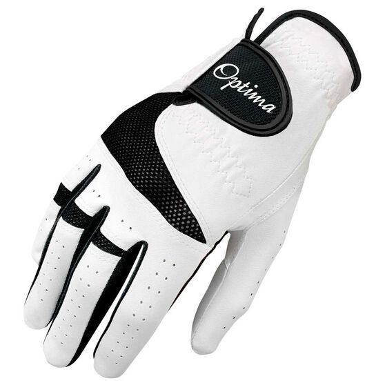 Optima XTD All Weather Mens Golf Glove White / Black Right Hand, White / Black, rebel_hi-res