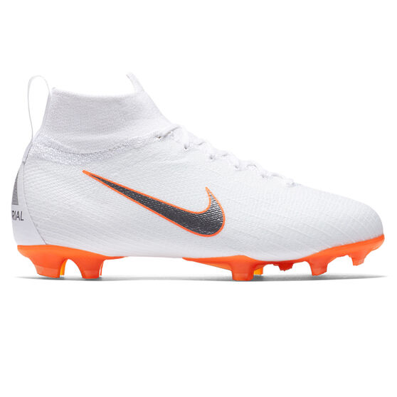 official photos 2cd2b 117f8 Nike Mercurial Superfly VI Elite Junior Football Boots White / Grey US 4