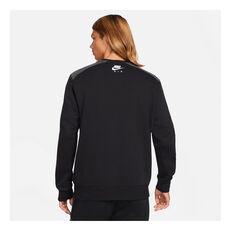 Nike Mens Air Crew Sweatshirt, Black, rebel_hi-res