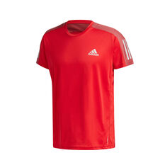 adidas Mens Own The Run Tee Red S, Red, rebel_hi-res