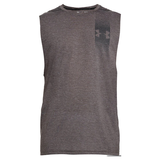 2a455536b Under Armour Mens Threadborne Graphic Muscle Tank, Charcoal, rebel_hi-res