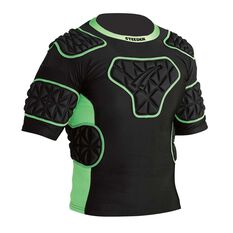 Steeden Super Lite Junior Shoulder Pads Black / Green XS Boys, Black / Green, rebel_hi-res