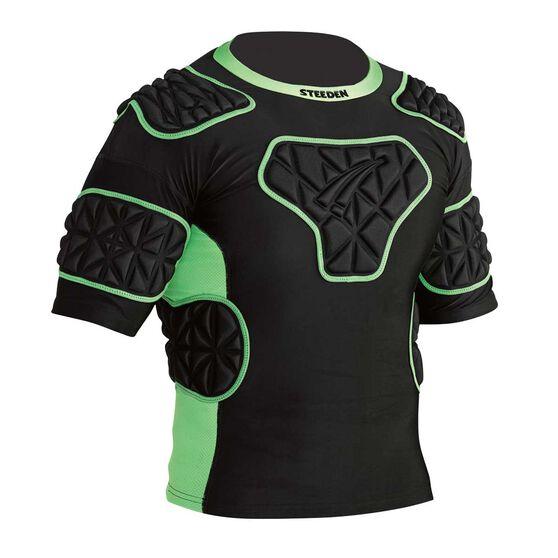 Steeden Super Lite Shoulder Pads Black / Green L, Black / Green, rebel_hi-res