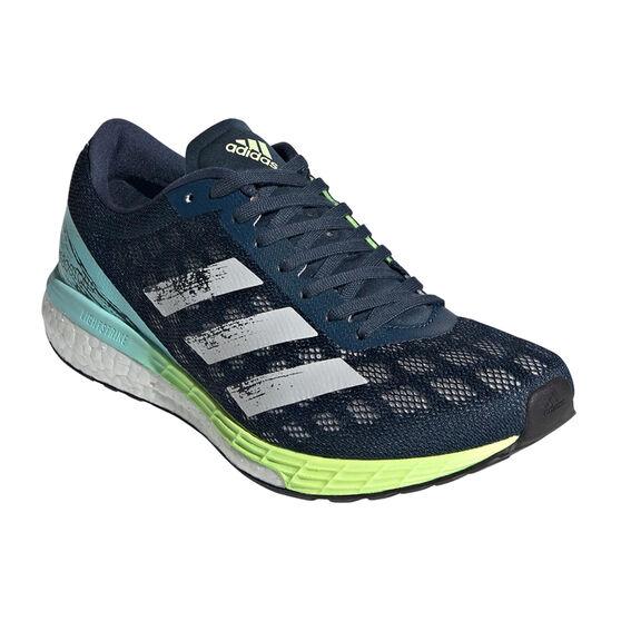 adidas Adizero Boston 9 Womens Running Shoes, Navy/White, rebel_hi-res