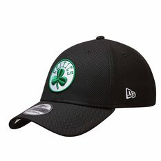 Boston Celtics New Era 39THIRTY Diamond Cap Black, Black, rebel_hi-res