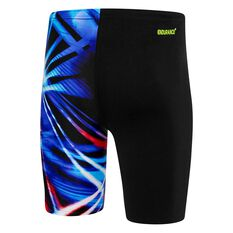 Speedo Mens Rays Jammer Black / Print 14, Black / Print, rebel_hi-res