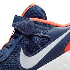 Nike Revolution 5 Kids Running Shoes, Navy/White, rebel_hi-res