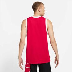 Nike Mens Starting Five Heresy Basketball Jersey Black/Red S, Black/Red, rebel_hi-res