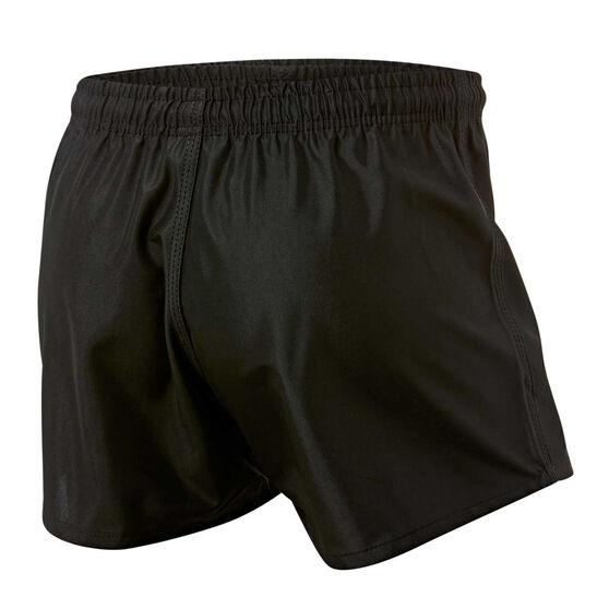 South Sydney Rabbitohs Mens Home Supporter Shorts, Black, rebel_hi-res