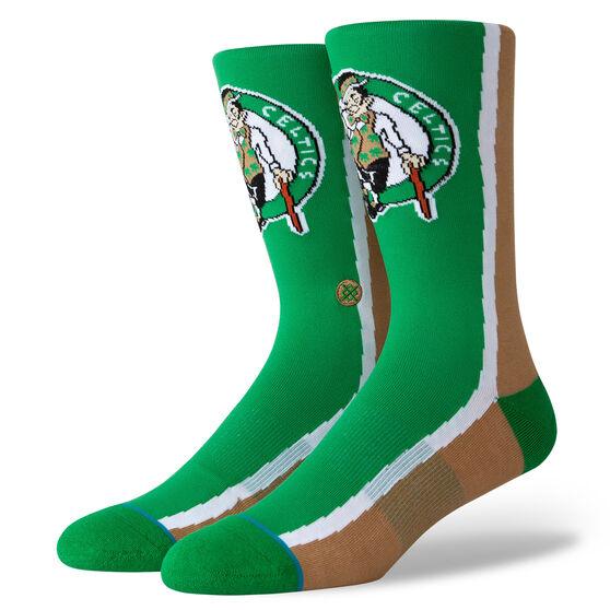 Stance Boston Celtics HWC Warmup Socks Green, Green, rebel_hi-res