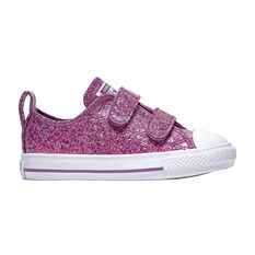 Converse Chuck Taylor All Star 2V Party Kids Casual Shoes Pink US 4, Pink, rebel_hi-res