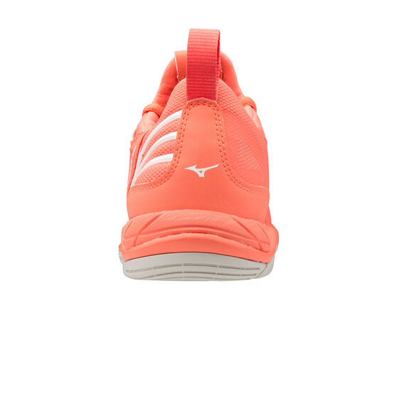 Mizuno Wave Luminous Womens Netball Shoes, Pink/White, rebel_hi-res