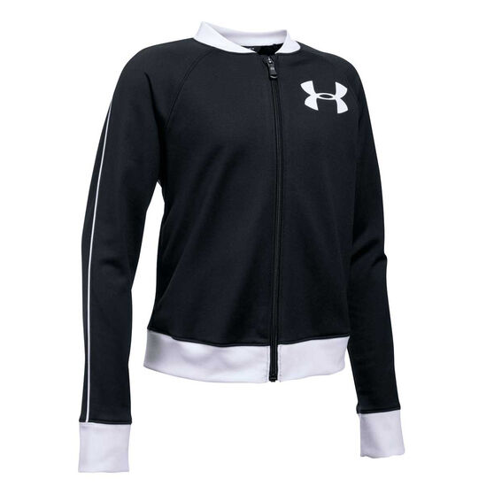 Under Armour Girls UA Track Jacket, Black, rebel_hi-res