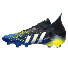 adidas Predator Freak .1 Football Boots Black/Blue US Mens 4 / Womens 5, Black/Blue, rebel_hi-res