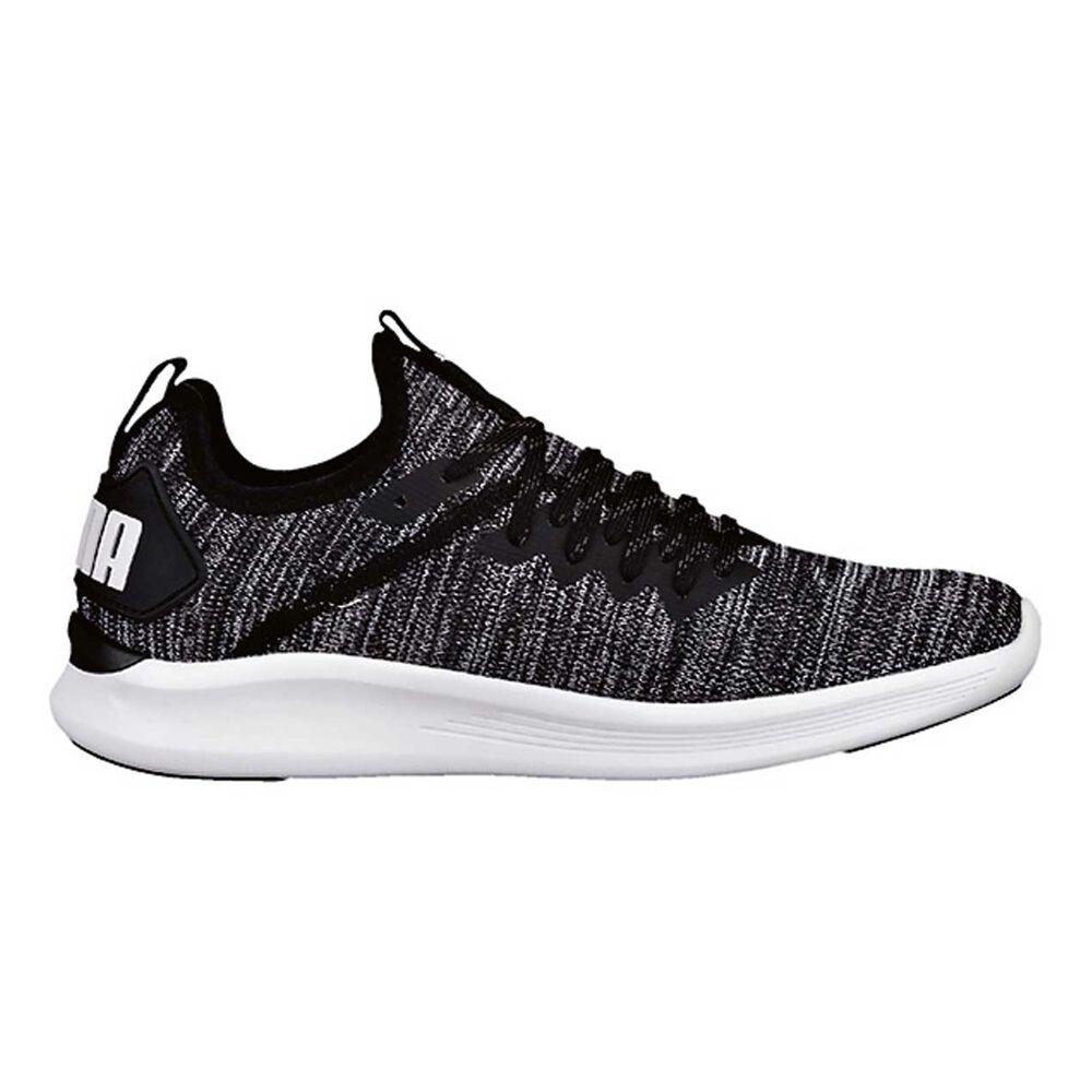 b02ff539c2d8f Puma Ignite Flash Womens Casual Shoes Black   Grey US 6