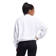 adidas Womens Rib Sweatshirt White M, White, rebel_hi-res