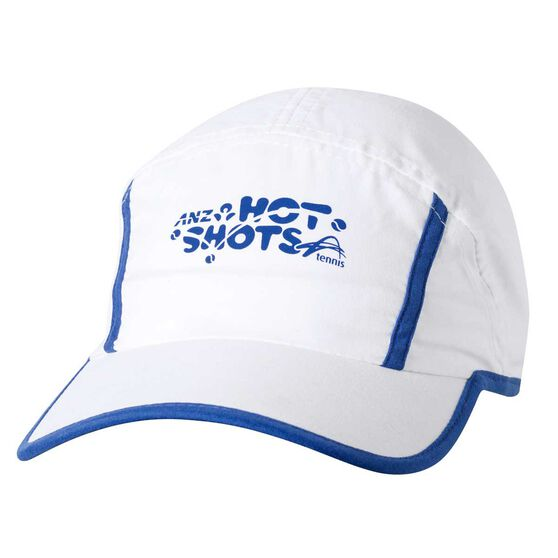 Hot Shots Boys Deuce Tennis Cap White / Blue OSFA, , rebel_hi-res